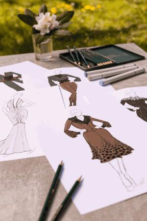Skizzen von Modedesignerin Cathleen Reinheckel