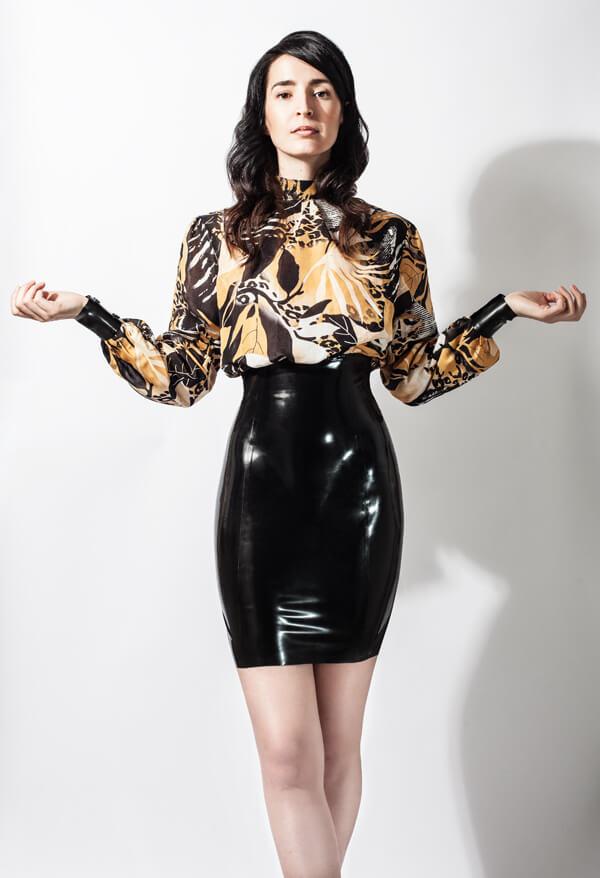 Kleid aus Chiffon und Latex von Lüllepop