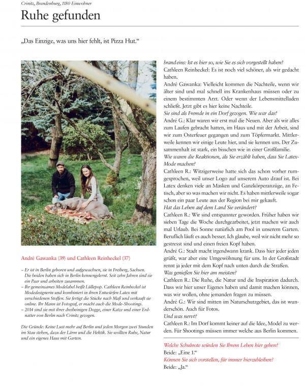 Interview von Lüllepop im Brand eins Magazin