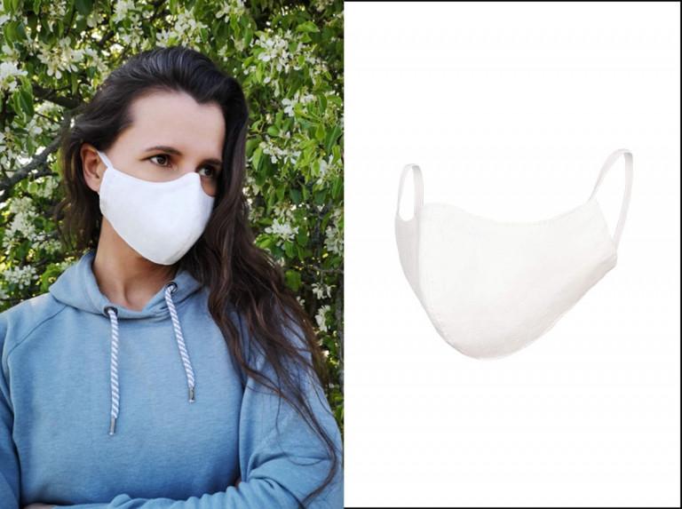 Weiße Mundmasken aus Baumwolle von Lüllepop