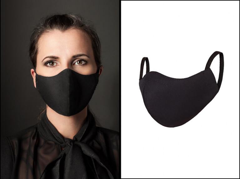 Schwarze Mundmasken aus Baumwolle von Lüllepop
