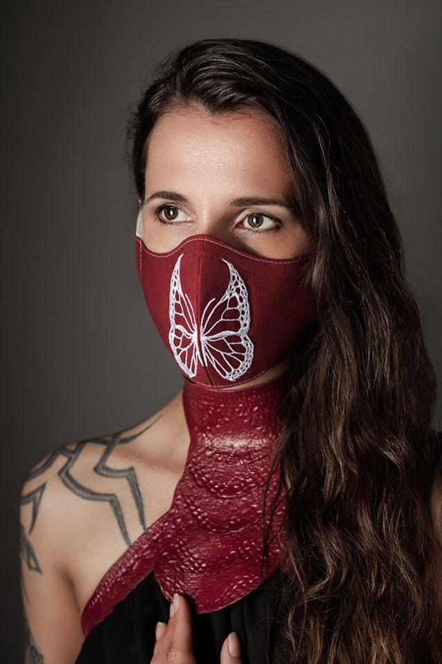 Mundmasken aus Baumwolle mit Stickerei von Lüllepop