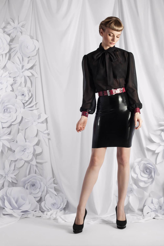 Zuschnitt Outfit Eleonora aus Chiffon und Latex von Lüllepop Fashion